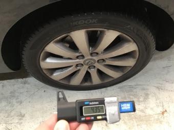 Tyre rear left